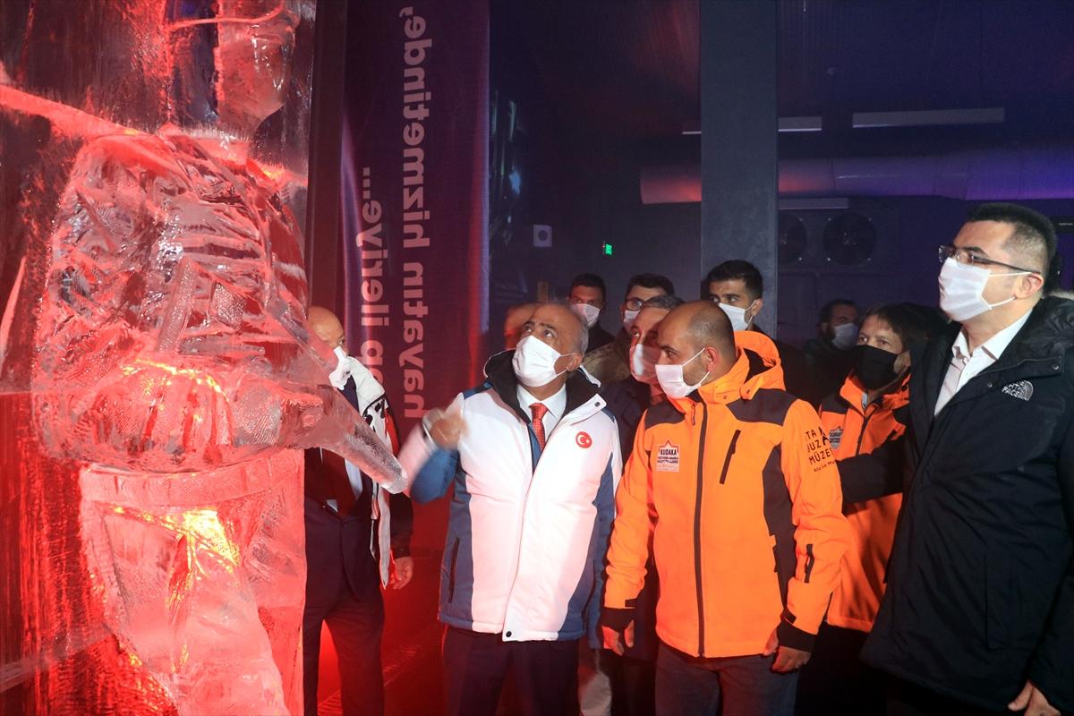 Erzurum'da Türkiye'nin ilk buz müzesi açıldı #4
