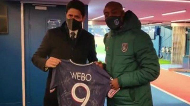 PSG Başkanı Nasser Al-Khelaifi, Webo'ya forma hediye etti